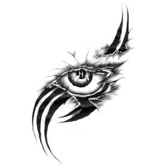 Eye Scar Tattoo Design- Eye Scar Tattoo Design An amazing tattoo of a scarred eye with letter N inside. Tribal Drawings, Dark Art Drawings, Tattoo Design Drawings, Pencil Art Drawings, Tattoo Sketches, Dragon Eye Drawing, Eye Scar, Tattoo Tribal, Scar Tattoo