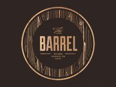 The Barrel Wine & Spirits, Brooklyn, NY. Logo by Yossi Belkin. Love the use of #fauxbois