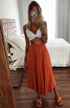 Look Fashion, Girl Fashion, Fashion Outfits, Pretty Outfits, Cute Outfits, Boho Mode, Estilo Hipster, Stylish Summer Outfits, Hippie Style