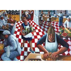'Teamwork' by Painter Sue Richardson.  Blank Art Cards By Green Pebble. www.greenpebble.co.uk