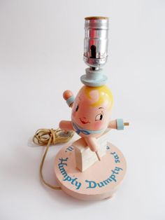Vintage Lamp Child's Room Nursery Humpty Dumpty by NanNasThings, $12.00