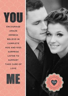 You and Me TEMPLATE: 117891 By Roxanne Buchholz 5 x 7 Invitation  Let the love of your life know why you love them so much with this sim...