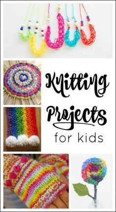 These knitting projects for kids are perfect for beginners! They make lovely homemade gifts too - perfect for the holidays. These knitting projects for kids are perfect for beginners! They make lovely homemade gifts too - perfect for the holidays. Beginning Knitting Projects, Finger Knitting Projects, Sewing Projects For Kids, Knitting For Kids, Knitting For Beginners, Sewing For Kids, Crafts For Kids, Art Projects, Simple Knitting
