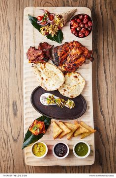 A Fusion of European & Asian Cuisine at The Yard, Silo District V&a Waterfront, In Season Produce, The V&a, High Tea, Tandoori Chicken, Healthy Eating, Dishes, Ethnic Recipes, Platter