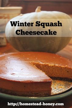 Homestead Honey | Winter Squash Cheesecake Recipe | http://homestead-honey.com