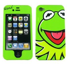 "Kermit the Frog Disney Protector Faceplate Case for Apple Iphone 4 4S Disney Mupet Case ""Rene"""