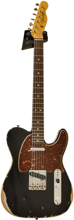 Black Telecaster with tortoise shell pickguard