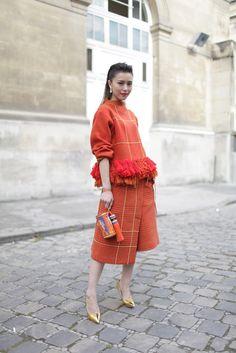 Paris Fashion Week street style. #donneVincenti #style