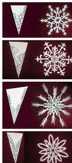 DIY paper medallions miniaturized & DIY paper snowflakes here to make your . - DIY paper medallions miniaturized & DIY paper snowflakes here to beautify your holidays [detailed i - Kirigami, Diy Paper, Paper Art, Paper Crafts, Diy Crafts, Tissue Paper, Fabric Crafts, Winter Christmas, Christmas Holidays