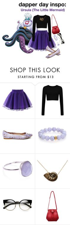 """""""dapper day inspo #06: ursula"""" by kumaray ❤ liked on Polyvore featuring Chicwish, Steve Madden, Nest, Accessorize and Disney"""