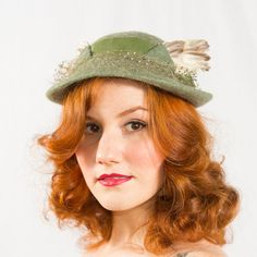 vintage 1950s Apollo feather hat by Mr. Silverman for Gimbel Brothers
