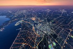 Aerial view of Melbourne Melbourne Victoria, Aerial View, Airplane View, Perspective, Australia, City, Instagram, City Drawing, Point Of View