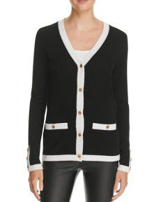 This classic never-goes-out-of-style cardigan made by C by Bloomingdale's strikes the perfect balance between comfort and chic. Its elegant design, delicate hardware and white contrast trim pay homage to Coco Chanel's classic designs. I usually wear this sweater with skinny jeans, but it can also be paired with leather pants and heels for an easy day-to-night transformation. This is a fashion statement that will last you for years! Visit www.lullabiesandlouboutins.com for more.