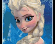 PDF Cross Stitch pattern  0300.Elsa Frozen  INSTANT by PIXcross | Etsy