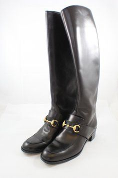 Gucci Horsebit Riding Black Boots. Get the must-have boots of this season! These Gucci Horsebit Riding Black Boots are a top 10 member favorite on Tradesy. Save on yours before they're sold out!