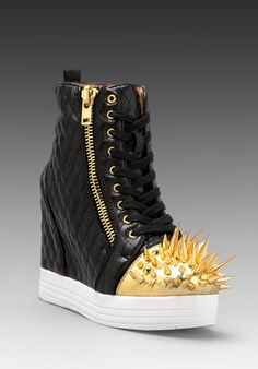 Jeffrey Campbell -> Caster in Black Quilt/Gold #Extravaganza #BestShoes #HighHeels #Ladies #Trendy #MustHave  http://www.revolveclothing.com/DisplayProduct.jsp?product=JCAM-WZ422=Wedges=C=Shoes