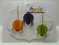 Spooky Card - 3D spiders