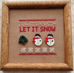 Let It Snow Cross Stitch