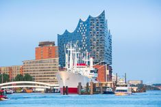 The hotel sits on top of the Elbphilharmonie concert hall.