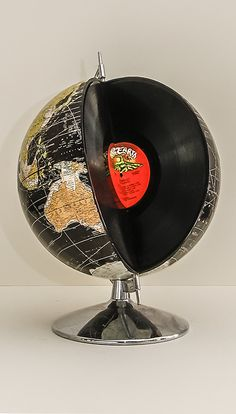 "Robin Ayres – 12"" record album globe. The Album is Rare Earth, One World"