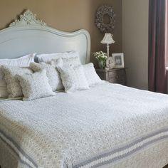 Mooie landelijke quilt bedsprei grijs patroon 180 x 260 cm - 8717459386075 - Avantius