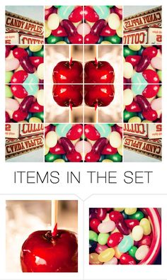 """""""candy apple"""" by glenda-garbutt ❤ liked on Polyvore featuring art"""