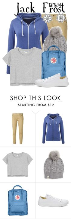 """""""Jack Frost"""" by tallybow ❤ liked on Polyvore featuring (+) PEOPLE, Monki, UGG Australia, Fjällräven and Converse"""