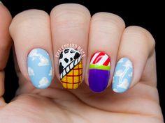 Toy Story nail art by @chalkboardnails
