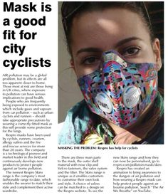 Review: Mask is a good fit for city cyclists: Air pollution may be a global problem, but its effects are all too apparent closer to  home. Those most at risk are those living in UK cities where exposure to pollution can have serious implicatio...