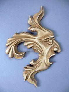 Maszkaron - rzeźba w drewnie