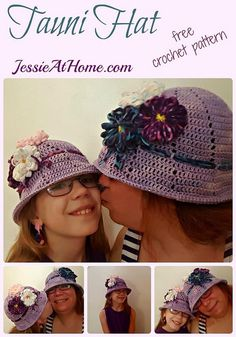 Tauni Hat - a simple sun hat to decorate! | free @crochet pattern from Jessie At Home