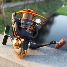 씨 물고기 낚시 릴 12BB + 1 베어링 공 500-9000 시리즈 스피닝 릴 보트 바위 휠