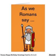 Roman Happy Birthday Greetings Card