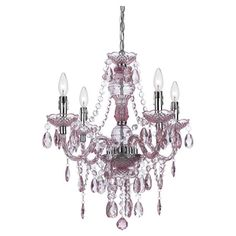 Neve Chandelier in Pink  at Joss and Main