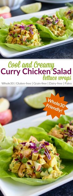 Cool and creamy chicken salad gets a little exotic with the addition of antioxidant-rich curry powder, crisp vegetables and crunchy cashews. Dairy Free Recipes, Paleo Recipes, Real Food Recipes, Chicken Recipes, Cooking Recipes, Gluten Free, Recipies Healthy, Yummy Food, Easy Recipes