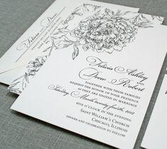 pretty black + white rose print  | by cricket printing