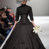 Black Wedding Gown..Off Beat Brides. Starkers Gown (10)