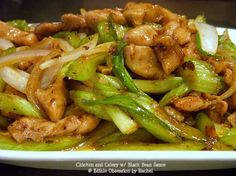 Chicken and Celery w/ Black Bean Sauce
