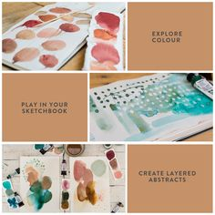 Mixed-media Abstract Art Classes (Classes are billed in USD). Watercolor Beginner, Watercolor Kit, Watercolour Tutorials, Watercolor Techniques, Abstract Watercolor, Watercolour Painting, Art Techniques, Paint Brands, Mark Making