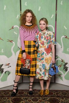 Petra Collins and Tavi Gevinson attend Gucci Eyewear Cocktail Party during Milan Fashion Week Fall/Winter 2017/18 on February 23 2017 in Milan Italy