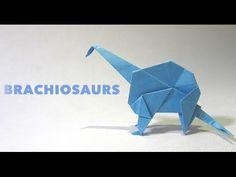 Origami Dinosaur BRACHIOSAURS tutorial