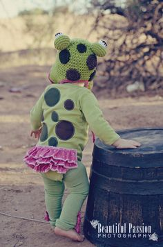 Girly Speckled Frog Costume by SewSimplySweetShop on Etsy, $55.00