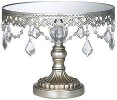 Antique Silver Beaded Small Cake Stand