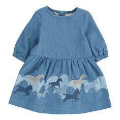 Stella McCartney Kids Baby Skippy Horse Dress Denim