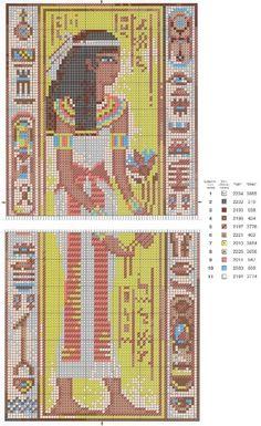 Oriental Scene 1~counted cross stitch pattern #1275~Oriental Asian People Chart