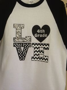 3/4 baseball style T-shirt for Teachers on Etsy, $30.00