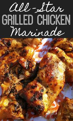 The BEST marinade for grilled chicken thighs with simple ingredients like soy sauce and dijon mustard. Looking for an alternative to burgers and dogs? Have an All-Star Chicken Sandwich in a simple buttered bun with a drizzle of Cajun White Barbeque Sauce (recipe included here too). Chicken Marinade Recipes, Chicken Thigh Recipes, Simple Chicken Marinade, Best Grilled Chicken Marinade, Mustard Chicken Marinade, Simple Grilled Chicken Recipes, Grilled Chicken Thighs Marinade, Chicken Thighs On Grill Recipe, Marinades For Chicken