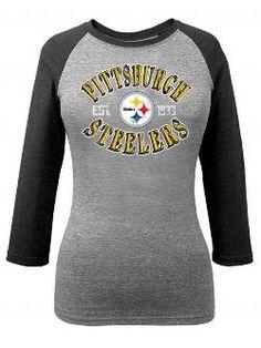 Women's Pittsburgh Steelers 5th & Ocean by New Era Black Mineral Wash Hi-Lo T-Shirt