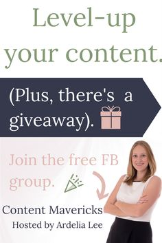 Ready to serve your clients and grow your business with strategic content? This free Facebook group is for you, especially if you're an online business owner. The Content Mavericks group covers tips and strategies for creating amazing content. You'll also have the opportunity to connect with fellow business owners. Plus, there's a giveaway happening soon. Click through to join. (Did I mention it's free?)