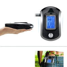 Semi-conductor Sensor Portable Breathalyzer Kit Accurate Display in Large LCD Screen Police Alcohol Breathalyzer with 5 Mouthpieces Alcohol Tester Digital Breath Alcohol Tester